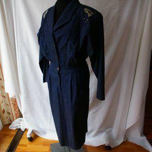 Michael Phillips Vintage 9 Denim Jean Dress Long